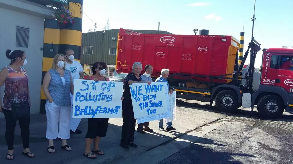 Cllr gets backing opposing pollution from Thornton's plant