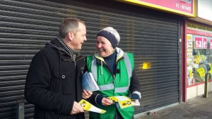 Richard and Brid canvassing in Ballyfermot