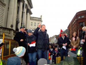 chairing big red card demo