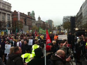 demo outside GPO