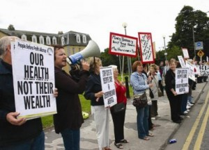 health protest StStevens